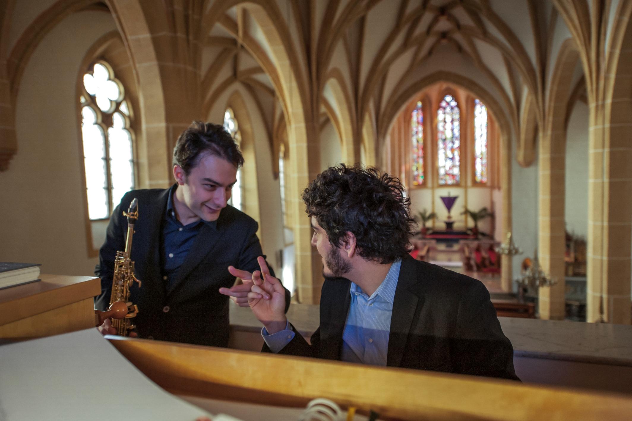 Luca Lavuri organista e Massimiliano Girardi sassofono